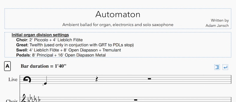 AJ Pact | Dorian Live | MuseScore and Live notation